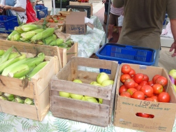 Vegetables are available at the Market