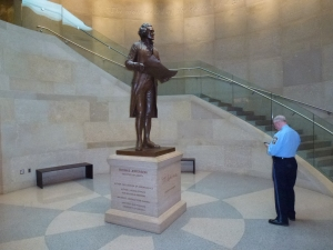Mr. Jefferson guarding a guard