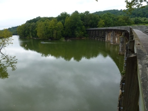 One of the longer trestles across the South Holston