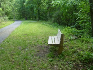 Benches are all along the trail, as are a couple emergency phones