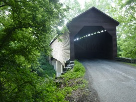 A historic covered bridge on the way to Route 11 Chips