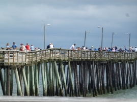 Plenty of fishing still happening on the pier