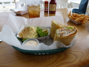 Tasty mahi wraps from Ocean Eddies