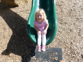 Cortlyn loves a slide!